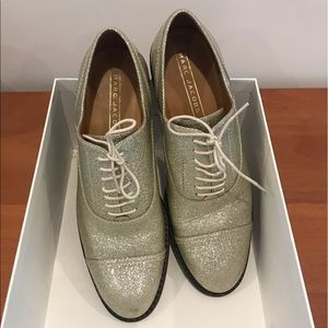 Marc Jacobs Glitter Gold Brogues